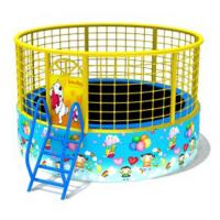 Wholesale Outdoor Small Trampoline With Net , Kids Playground Equipment Compact Structure from china suppliers