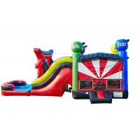 Quality Flame Resistant Inflatable Jumping Castle / 5 In 1 Bouncy Castle With Slide for sale