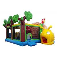 China Cute Snail Style Inflatable Jump House , Waterproof Blow Up Bounce House on sale