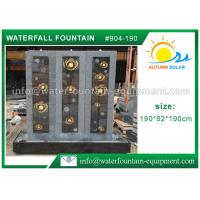 Buy cheap High Grade Cast Stone Outdoor Fountains With LED Lights / Energy Efficient Water from wholesalers