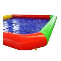 China 0.9mm PVC rectangle inflatable poolInflatable Above Ground Pools For Renting on sale
