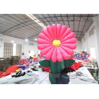 Customized Led Lighted Inflatable Flower For Stage Decoration