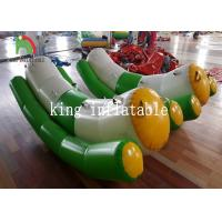 China Green / White Single / Double Tube 0.9mm PVC Inflatable Water Toy / Totter / Seesaw on sale