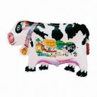Buy cheap Dairy Cow Inflatable Animal Balloon, Made of PA + PE, Measures 66 x 45cm from wholesalers