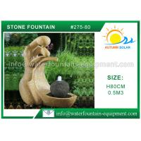Buy cheap Multi Style Cast Stone Outdoor Fountains Granite Water Fountain 80cm Height from wholesalers