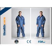 China Breathable Disposable Coveralls Protective Suit With Hood And Boot Cover Acid Resistant on sale