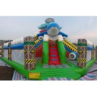 Wholesale Inflatable Amusement Park Dolphin Air Castle Bouncer Slide Fun City Game Combo from china suppliers