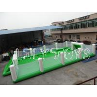 Wholesale exciting pvc Inflatable Football Games Field large , green Inflatable sport game from china suppliers