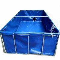 Quality Easy Assemble PVC Tarpaulin Fabric , Fish Tank Agricultural Usage Large Waterproof Tarpaulin for sale