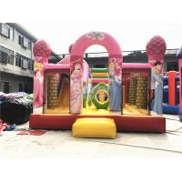 Wholesale Big Pink Princess Inflatable Bouncer , Professional Commercial Bounce House from china suppliers