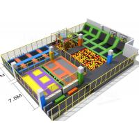 Wholesale Large Scale Sports Indoor Trampoline Park Equipment Combined With Ball Fighting Area from china suppliers