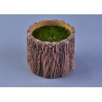 Wholesale Recyclable Wood Timber Brown Cement Candle Flower Jar Eco - friendly from china suppliers