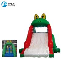 China Commercial Large Inflatable Slide / Air Blow Up Water Slides Frog Slide Single Lane For Kids on sale