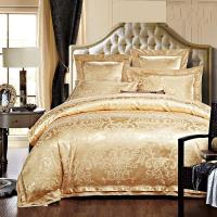 Wholesale Rose Golden 400T Jacquard Bedding Set /  Non - Pilling Hotel Collection Bed Linen from china suppliers