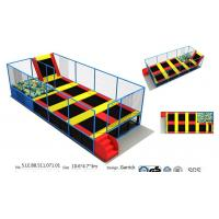 Wholesale China Sports Trampoline Park 49M2 Small Size Indoor Trampoline Colorful Bounce for Kids and Adults from china suppliers