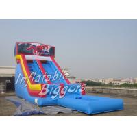 China Huge Indoor Backyard Inflatable Water Slides For Kids With Water Pool on sale