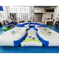 Wholesale 1000D Inflatable Boat Island Outdoor Swimming Pool Water Float Games from china suppliers