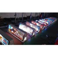 Wholesale Double Sided P5 Taxi Top LED Screen , LED Taxi Top Advertising With 3G / 4G / USB / WIFI from china suppliers