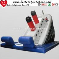 Wholesale Custom top quality single blue crazy water pvc infaltable slide for sale from china suppliers