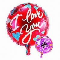 Wholesale 18-inch Wedding Balloons, Made of PA and PE and AL, Customized Orders Accepted, Two Colors Available from china suppliers