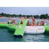 Wholesale Inflatable water park games , inflatable water trampline with slide tubes from china suppliers