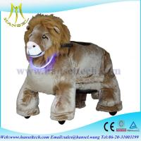 Wholesale Hansel plush animals motorized plush lion ride on toy from china suppliers