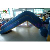 China Commercial 0.9mm PVC Tarpaulin Inflatable Big Air Slide For Water Park for sale