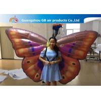 Wholesale Custom Back Inflatable Lighting Decoration Butterfly Air BOW With Internal Blowewr from china suppliers