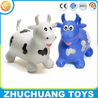 Wholesale OEM kids plastic toy jumping cow animal ride from china suppliers