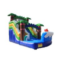 China 2020 new design cheap used inflatable colorful water slide for sale kids and adults on sale