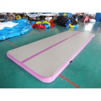 China Rectangle Shape Gym Sport  Inflatable Tumble Track In 20cm For Cheerleading on sale