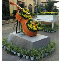 Wholesale Beautiful Fiberglass Resin Elegant Violoncello Statue For Outdoor School Decoration from china suppliers