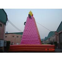 China Large Adult Inflatable Games , Wonderful Outdoor inflatable Rock Wall on sale