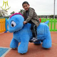 Wholesale Hansel mall walking animal rides kids motorized plush riding animals from china suppliers