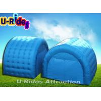Wholesale Large Blue Camping Inflatable Dome Tent PVC Tarpaulin With Two Rooms from china suppliers