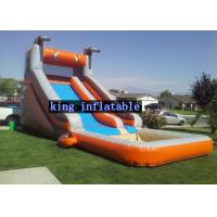 China Tarpaulin Inflatable Water Slide With Pool Customized Color For Outdoor Fun on sale
