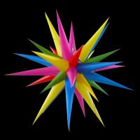 Wholesale Multicolored Inflatable Air Star with LED Light, Event and Party Decoration Star from china suppliers