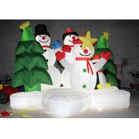 Wholesale Advertising Air Inflatable Christmas Decorations Snowman With Lighting Inside from china suppliers