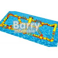 Wholesale Water Games Inflatable Floating Obstacle Course With 0.9mm Plato PVC Tarpaulin from china suppliers