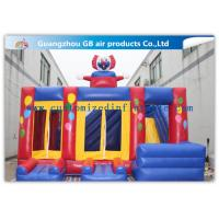 China Funny Safety Childrens Inflatable Bouncy Castle With Slide Combo Customized on sale