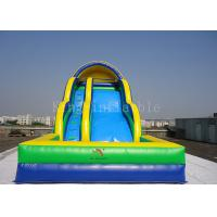 Wholesale Toddler Inflatable Water Slide Customized 0.55mm PVC Tarpaulin Double Lanes from china suppliers