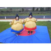 China Flame Retardant Inflatable Amusement Park With Sumo Suit For Kids on sale