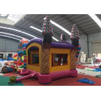Wholesale Sweet Icecream Candy Adult Size Bounce House / Bounce House Slide Combo from china suppliers