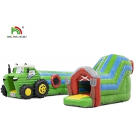 Wholesale Logo Printing Green 6.5m Tractor Inflatable Obstacle Course For Party from china suppliers