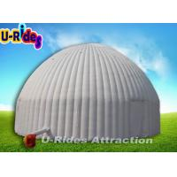 Wholesale 10M Diameter White Inflatable Dome Tent , Large Inflatable Igloo Tent With Door from china suppliers