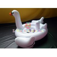 Wholesale Giant Swan Pool Float , Inflatable Pool Toys Flamingo Unicorn For Fun Play from china suppliers