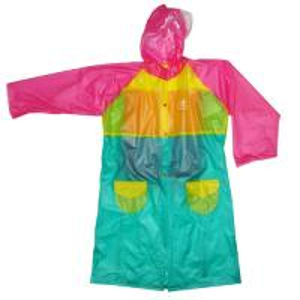 Lovely Ladies Pvc Raincoat With Hood , Eco Friendly Rainwear