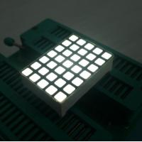 China White 5x7 Dot Matrix LED Display High Efficiency Programmable LED Display on sale