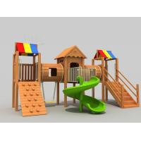 Wholesale Early Childhood Indoor Wooden Playground Set Combination Of  Varied Functional Areas from china suppliers