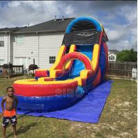 Wholesale 0.55+0.4pvc Beach Inflatable Backyard Water Slide For Kids , Bounce House Water Slide from china suppliers